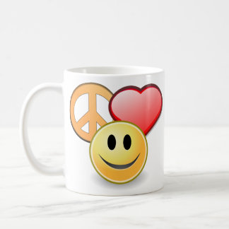 Peace Love and Happiness mug