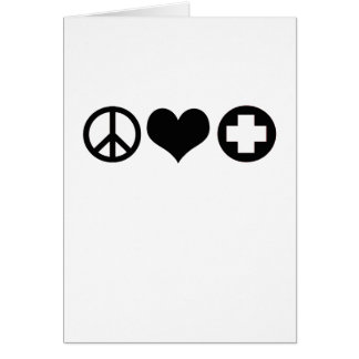 Peace Love and Health Care black Card