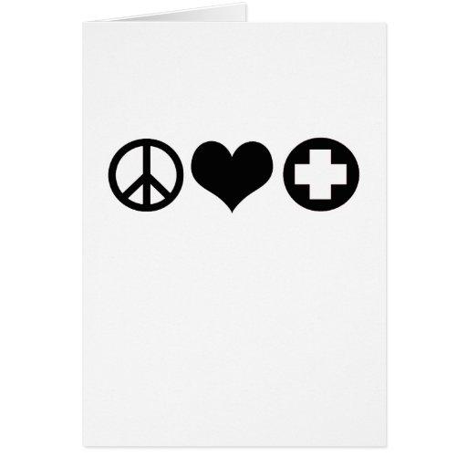 Peace Love and Health Care black Card