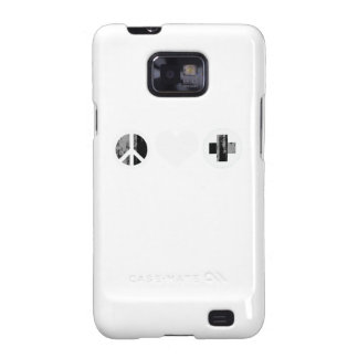 Peace Love and Health Care white Faded.png Galaxy SII Cover