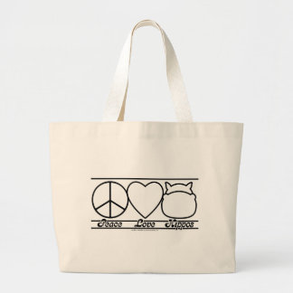 Peace Love and Hippos Bags
