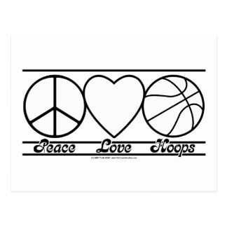 Peace Love and Hoops Postcard