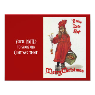 Peace, Love and Hope at Christmas 11 Cm X 14 Cm Invitation Card