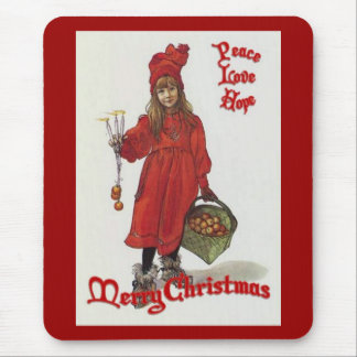 Peace, Love and Hope at Christmas Mouse Pad
