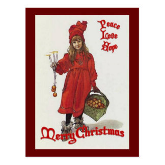 Peace, Love and Hope at Christmas Postcard