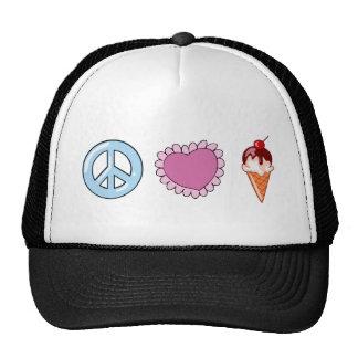 Peace Love and Ice Cream Cap