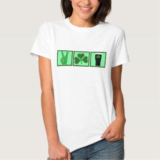 Peace,love and Irish beer T-shirt