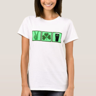 Peace,love and Irish beer T-Shirt