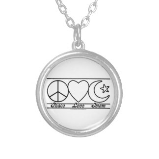 Peace Love and Islam Personalized Necklace