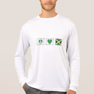 Peace Love and Jamaica Squares T-Shirt