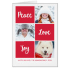 Peace Love and Joy | Custom Photo Holiday Card