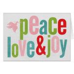 Peace Love and Joy Dove Colourful