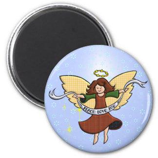 Peace, Love and Joy Fridge Magnet