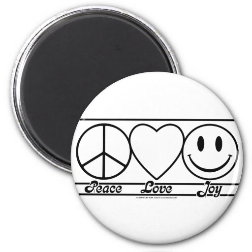 Peace Love and Joy Fridge Magnet
