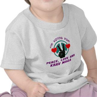 Peace Love And Krav Maga. Tee Shirts