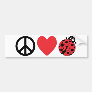 Peace Love and Ladybugs Bumper Stickers