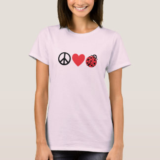 Peace Love and Ladybugs T-Shirt