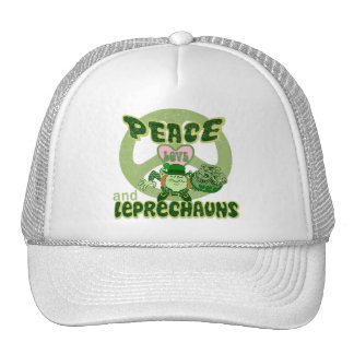 Peace Love and Leprechauns Hats