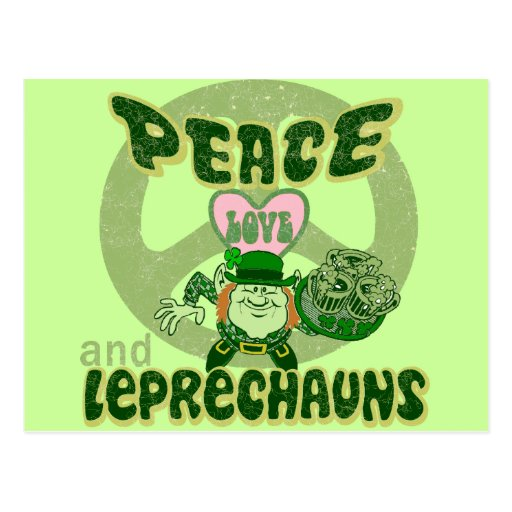Peace Love and Leprechauns Postcards