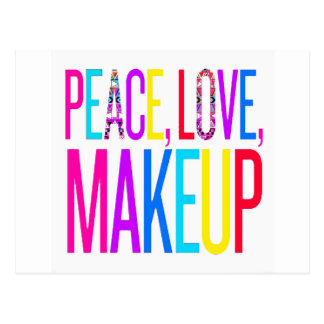 Peace, Love and Makeup Postcard