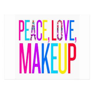 Peace, Love and Makeup Postcard
