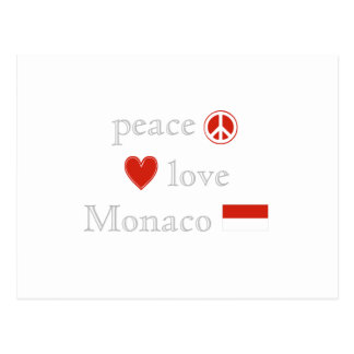Peace Love and Monaco Postcard