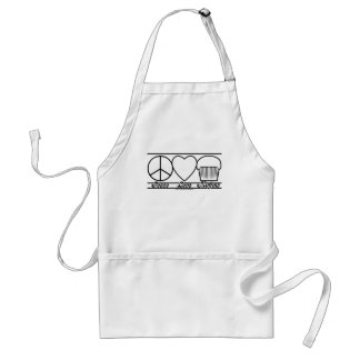 Peace Love and Muffins Standard Apron