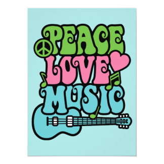 Peace, Love and Music Card