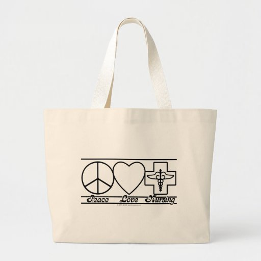 Peace Love and Nursing Bag