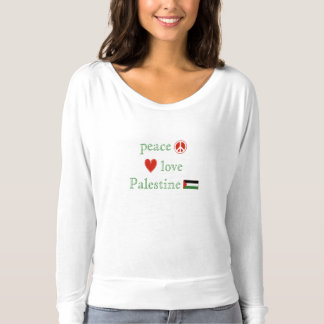 Peace Love and Palestine Women's T-Shirt