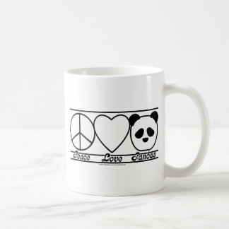 Peace Love and Pandas Basic White Mug