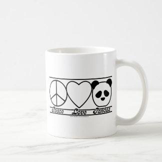 Peace Love and Pandas Mug