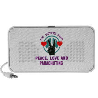 Peace Love And Parachuting. Notebook Speakers