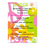 Peace, Love and Party 13 Cm X 18 Cm Invitation Card