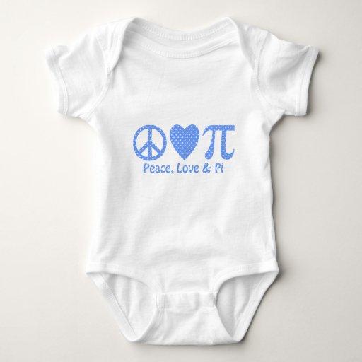 Peace Love and Pi Snowflakes Tshirt