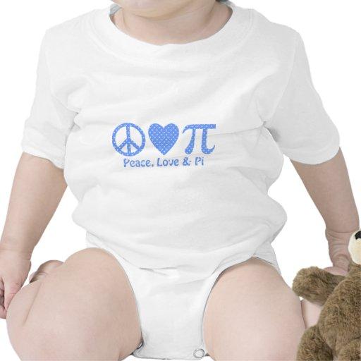 Peace Love and Pi Snowflakes Tshirts