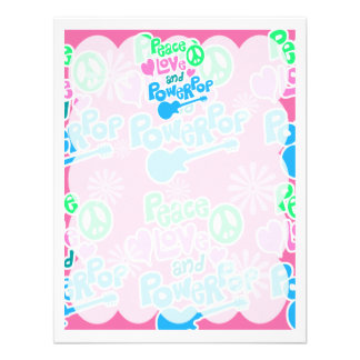 Peace Love and Powerpop Personalized Invitations