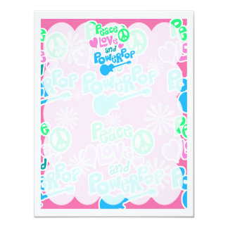 Peace, Love and Powerpop Personalized Invitations
