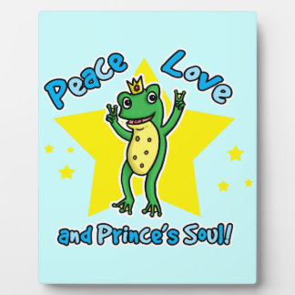 Peace love and Princes' soul frog prince Plaque