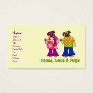 Peace Love and Pugs Business Cards