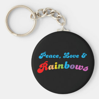 Peace Love and Rainbows Key Ring