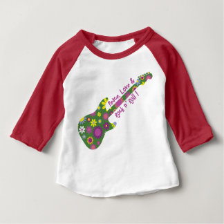 Peace Love and Rock n' Roll Baby T-Shirt