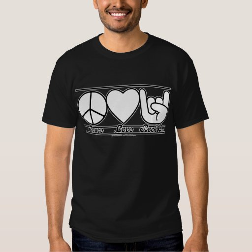 Peace Love and RockOn Tee Shirt