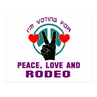 Peace Love And Rodeo. Postcard