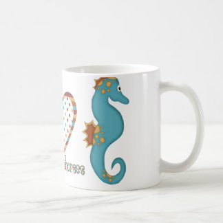 Peace, Love and Seahorses Coffee Mug