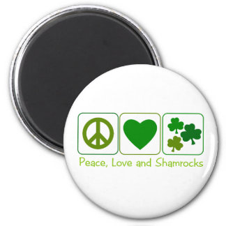 Peace, Love and Shamrocks Magnets