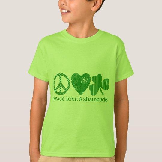 Peace, Love and Shamrocks T-Shirt