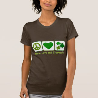 Peace, Love and Shamrocks T-Shirt