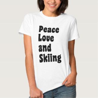 Peace, love and Skiing Tee Shirt