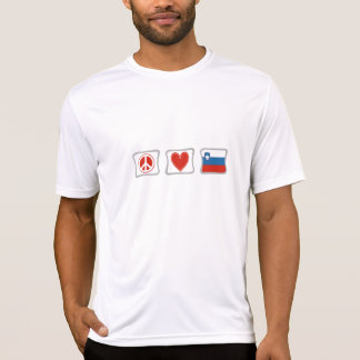Peace Love and Slovenia Squares T-Shirt